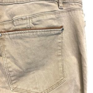 White House Black Market Pants - WHBM | Khaki Colored Moto Style Pants